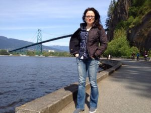 Walking along Vancouver's beautiful sea wall with friends helps me manage my stress!